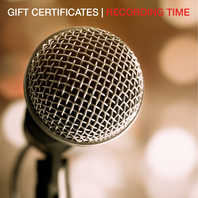 6 Hours of Recording Studio Time - Direct Mail to Purchaser Gift Certificate